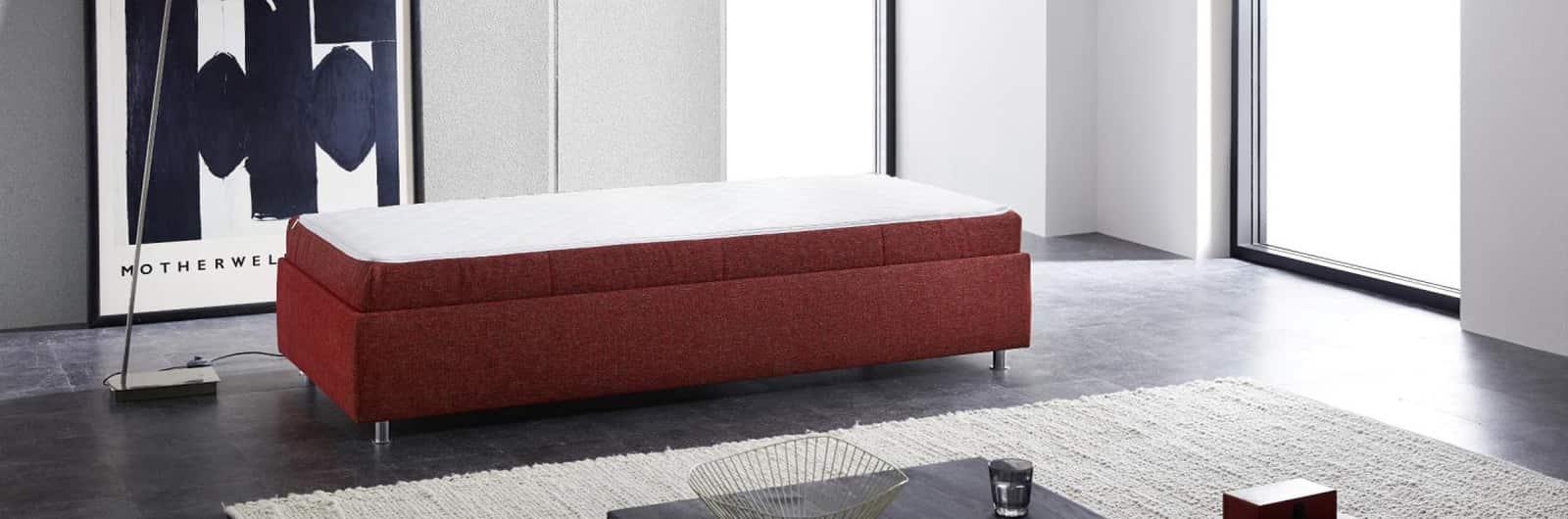 Dauerschläfer INNSBRUCK DELUXE mit wählbarer Matratze – Liegefläche ca. 90x200 cm